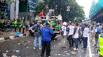 Massa 221 Priok Bersatu Bubar Usai Demo Yasonna, Lalin HR Rasuna Said Lancar