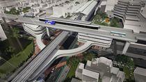 Begini Desain Skybridge Integrasi MRT ASEAN-TransJ CSW yang Dibangun Anies