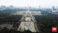 Begini Proses Pembangunan Sirkuit Jalanan Formula E Jakarta