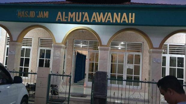 TKP saat motor hilang di parkiran masjid