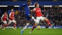Babak I: Chelsea Ungguli Arsenal 1-0, David Luiz Dikartu Merah