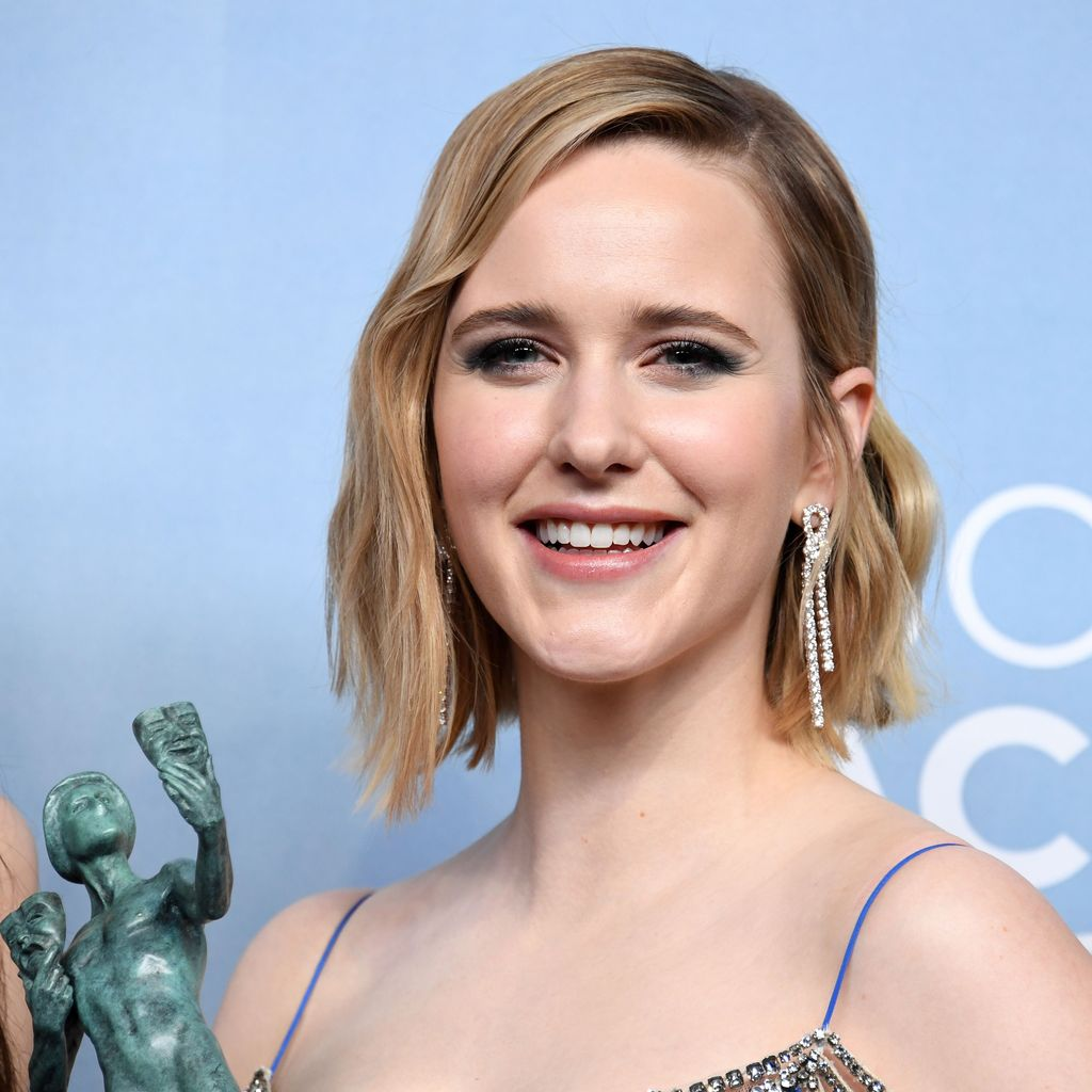 LOS ANGELES, CALIFORNIA - JANUARY 19: Rachel Brosnahan, winner of Outstanding Performance by an Ensemble in a Comedy Series for 'The Marvelous Mrs. Maisel', poses in the press room during the 26th Annual Screen ActorsGuild Awards at The Shrine Auditorium on January 19, 2020 in Los Angeles, California. (Photo by Jon Kopaloff/Getty Images)