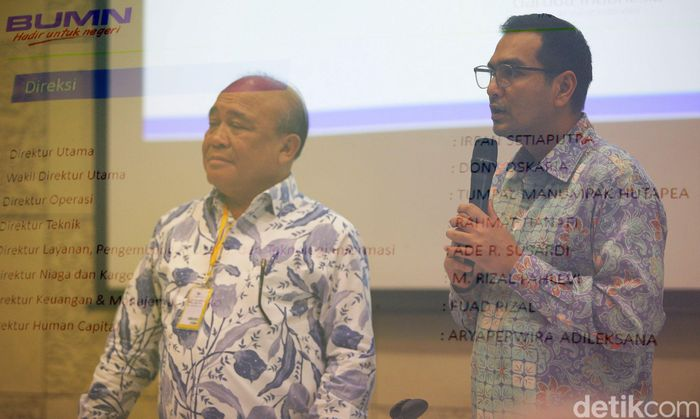 Pengumuman penunjukan Irfan Setiaputra sebagai Dirut PT Garuda Indonesia (Persero) Tbk dilakukan oleh eks Komisaris Utama PT Garuda Indonesia (Persero) Tbk Sahala Lumbangaol dan Direktur Keuangan dan Manajemen Risiko PT Garuda Indonesia (Persero) Tbk Fuad Rizal, Rabu (22/1/2020).