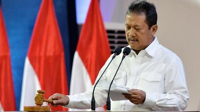 Wamenhan Sakti Wahyu Trenggono membuka rapat pimpinan Kementerian Pertahanan 2020