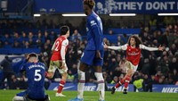 Gila, Arsenal Redam Chelsea dengan 10 Pemain dan 2 Tembakan!