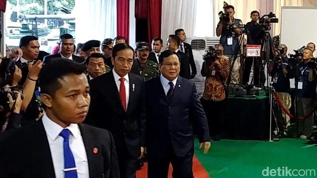 Bareng Prabowo, Jokowi Hadiri Rapim Kemhan 2020