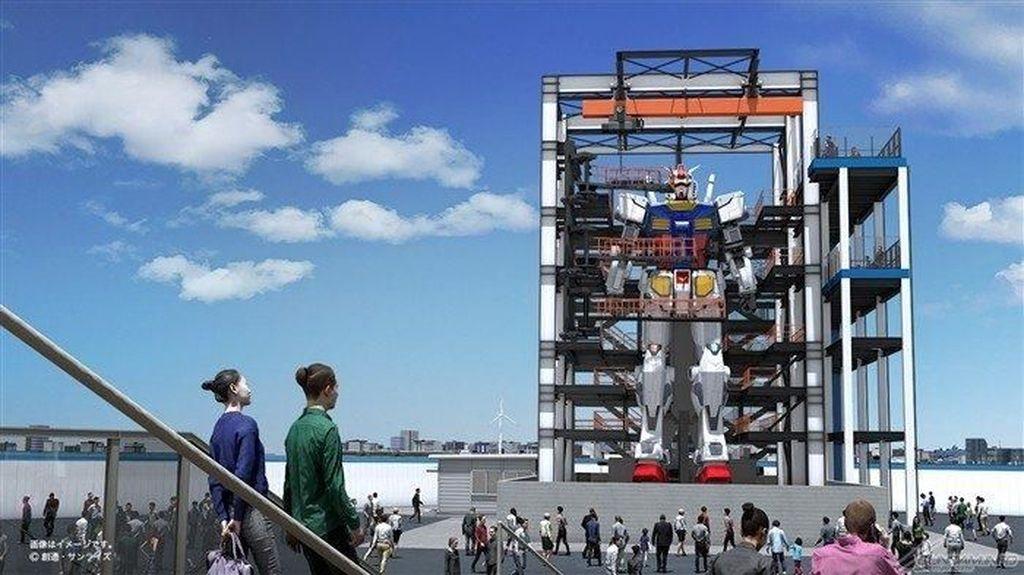 Patung Bergerak Gundam Bakal Bertengger di Yokohama