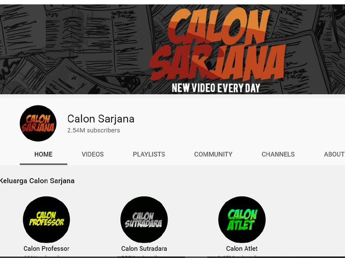 Channel Youtube Calon Sarjana Menghilang Ini Penyebabnya