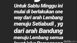 Beredar Info Setiabudi-Lembang One Way Saat Imlek, Ini Penjelasan Polisi