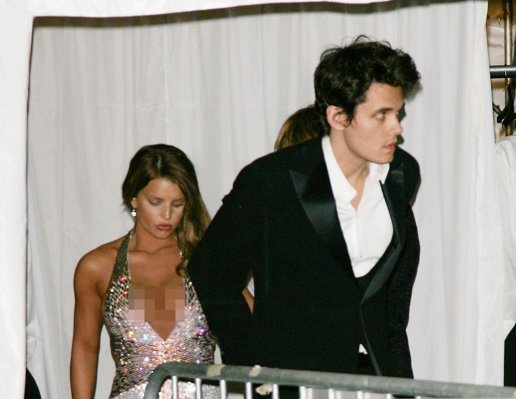 John Mayer dan Jessica Simpson di MET Gala 2007.