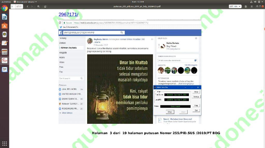 Sebut Jokowi Jongos Asing di Facebook, Warga Bekasi Dibui 18 Bulan