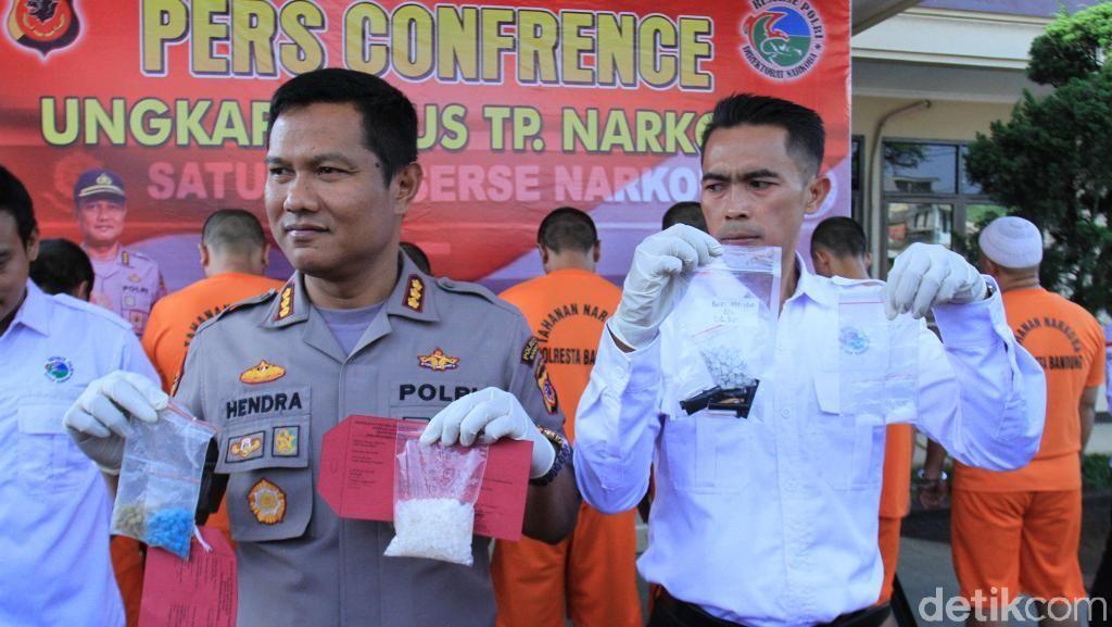 8 Pengedar Narkoba di Bandung Ditangkap, 114 Gram Sabu Diamankan