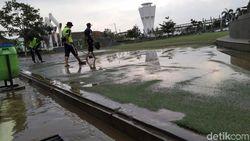 Drainase Tak Berfungsi, Alun-alun Cianjur Terendam Banjir