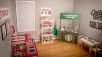 Keren! Ibu Ini Bikin Miniatur Starbucks hingga Supermarket untuk Anaknya