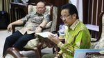 Bahas Pembangunan Daerah, Ketua DPD Bertemu Pengurus Apdesi
