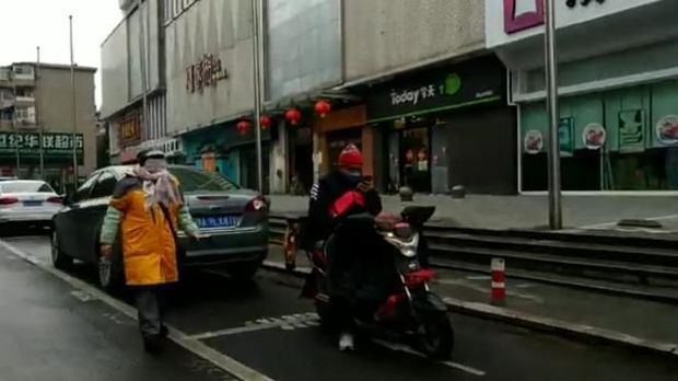 Kondisi sepinya Kota Wuhan di China yang diisolasi akibat virus corona