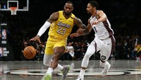 Hasil NBA: LeBron James Triple-Double, Lakers Tundukkan Nets