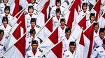 Bendera Merah Putih Sepanjang 540 Meter Membentang di Semarang