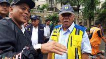 Menteri Basuki Tinjau Banjir di Underpass Timur Kemayoran