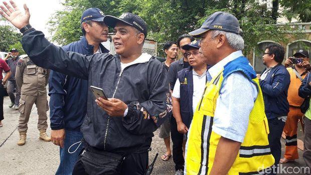 Menteri PUPR Tinjau Banjir di Underpass Timur Kemayoran