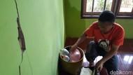 4 Rumah Retak Akibat Pergerakan Tanah di Sumedang