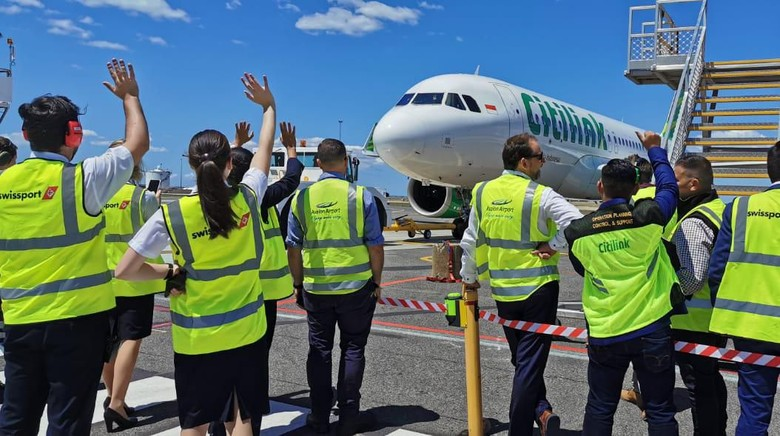 Penerbangan perdana Citilink Indonesia dari Denpasar ke Melbourne (24-25/1/2020)