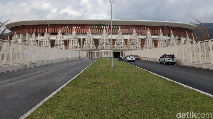 Stadion Papua Bangkit sudah siap digunakan untuk Pekan Olahraga Nasional (PON) 2020. Seperti apa suasananya?