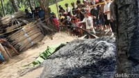 Sosok Mayat Terbakar Ditemukan Warga Banyuwangi di Kebun Kelapa