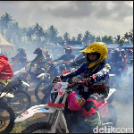 Ratusan TS Owners Jajal Medan Offroad Pangandaran