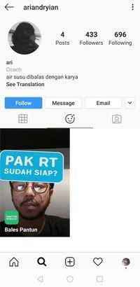 Cara membuat pantun dari filter Instagram.