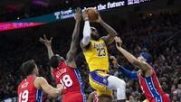 Hasil NBA: LeBron Bikin Rekor Apik, tapi Lakers Keok