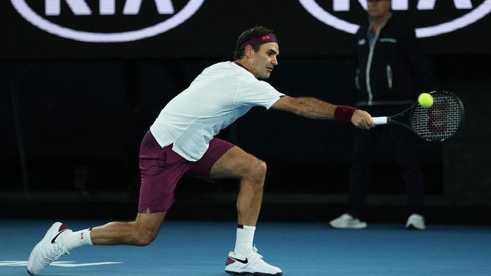 Bertarung Empat Set Federer Tembus Perempatfinal Australia Terbuka