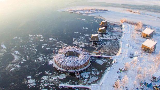 Arctic Bath, Sensasi Floating Hotel dengan Pemandangan Aurora