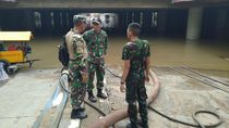 TNI Keluhkan Pompa yang Sedot Banjir Underpass Kemayoran: Debitnya Kecil