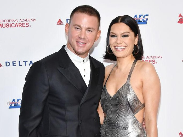 LOS ANGELES, CALIFORNIA - JANUARY 24: (L-R) Channing Tatum and Jessie J attend MusiCares Person of the Year honoring Aerosmith at West Hall at Los Angeles Convention Center on January 24, 2020 in Los Angeles, California. (Photo by Amy Sussman/Getty Images)