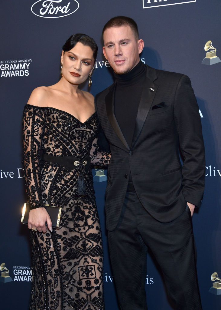 BEVERLY HILLS, CALIFORNIA - JANUARY 25: (L-R) Jessie J and Channing Tatum attend the Pre-GRAMMY Gala and GRAMMY Salute to Industry Icons Honoring Sean