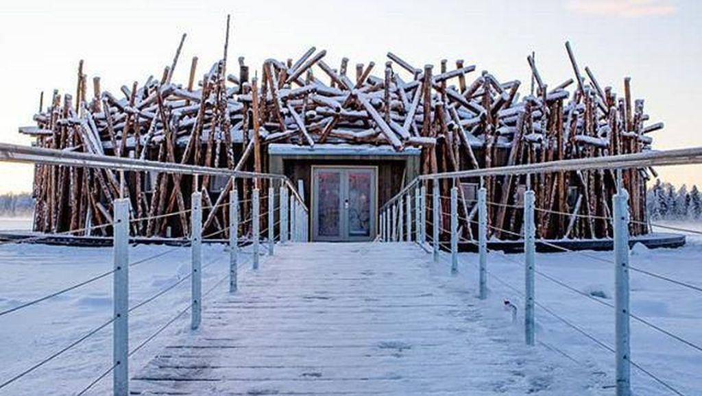 Foto: Hotel Sarang Burung di Tengah Salju Berbiaya Rp 12,4 Juta Semalam