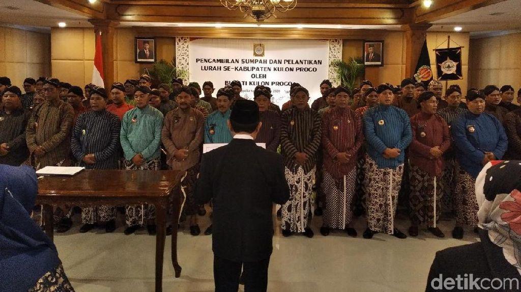 Perubahan Nomenklatur, 87 Kades Kulon Progo Dilantik Jadi Lurah