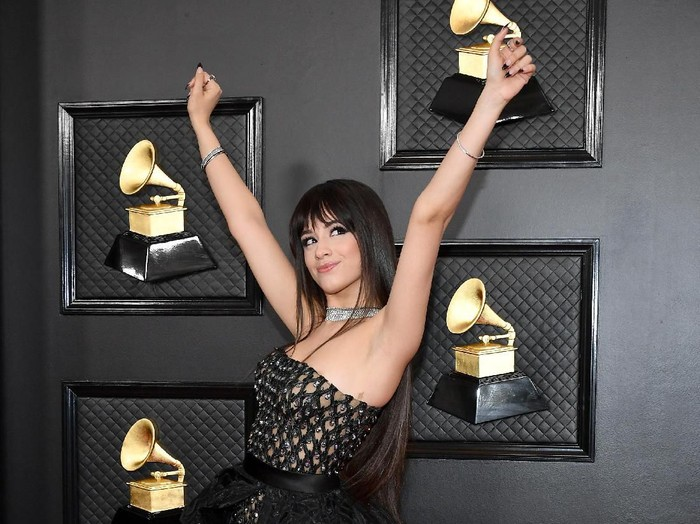 LOS ANGELES, CALIFORNIA - JANUARY 26: Camila Cabello attends the 62nd Annual GRAMMY Awards at Staples Center on January 26, 2020 in Los Angeles, California. (Photo by Amy Sussman/Getty Images)