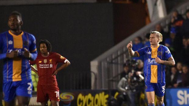 Liverpool diimbangi Shrewsbury 2-2 di pertemuan pertama.