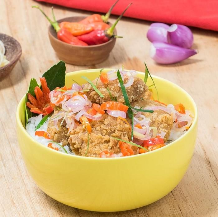 Nasi Jeruk karaage Sambal Matah