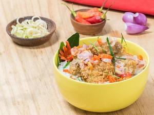 Resep Nasi : Nasi Daun Jeruk Karage Sambal Matah