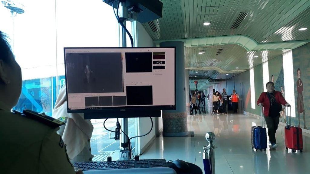 Bandara SMB II Palembang Pasang Termo Scanner Antisipasi Virus Corona