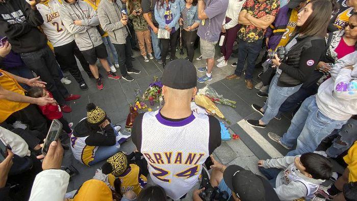 Kobe Bryant meninggal dunia akibat kecelakaan helikopter pada minggu pagi waktu setempat (Keith Birmingham/The Orange County Register via AP)