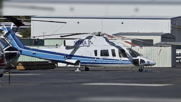 Ilustrasi helikopter jenis Sikorsky S-76B yang ditumpangi Kobe Bryant. (