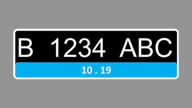 Detail Warna Biru Desain Pelat Nomor Kendaraan Listrik