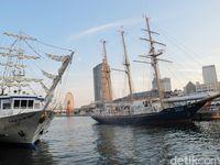 Banyak atraksi wisata di pelabuhan di Kota Kobe