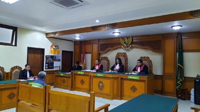 DOK. Humas PN Gianyar/ Sidang vonis penganiaya anjing hingga mati di PN Gianyar Bali