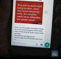 Viral! Virus Corona Menyebar Via Ponsel Xiomi, Benarkah?