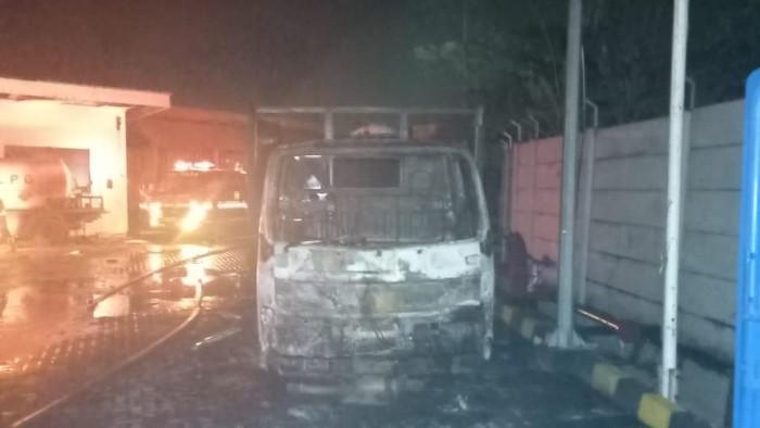 Kebakaran di PT Semar Gemilang, Kabupaten Bekasi